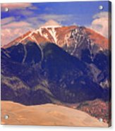 Rocky Mountains And Sand Dunes Acrylic Print