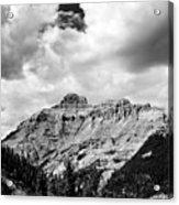 Rocky Mountains Of Colorado  Black And White Acrylic Print