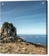 Rocky Outcrop Above Calvi Bay In Corsica Acrylic Print