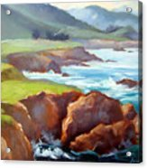 Rocky Point Afternoon Big Sur Acrylic Print
