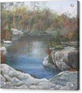 Rocky Pond Acrylic Print