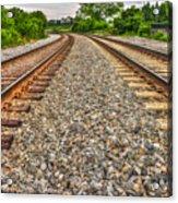 Rocky Railroad Rails Acrylic Print