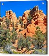 Rocky Range At Red Canyon Acrylic Print