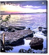 Rocky River Shore Acrylic Print