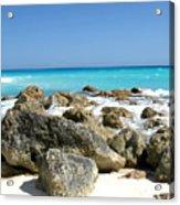 Rocky Shore--cancun Acrylic Print