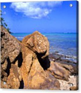 Rocky Shoreline Acrylic Print