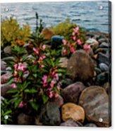 Rocky Shores Of Lake St. Clair- Michigan Acrylic Print