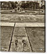 Rocky's Footprints Acrylic Print by Jack Paolini