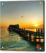 Rod And Reel Pier Sunrise 2 Acrylic Print