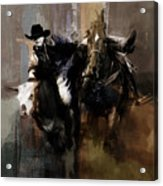Rodeo Painting Acrylic Print