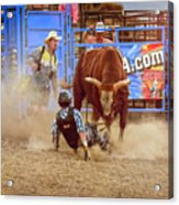 Rodeo Rider Down Acrylic Print