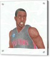 Rodney Stuckey Acrylic Print by Toni Jaso