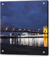 Roebling Bridge Span Acrylic Print