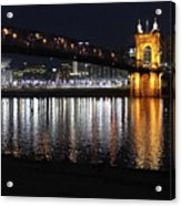 Roebling Bridge Acrylic Print