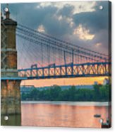 Roebling Suspension Bridge - Cincinnati, Ohio Acrylic Print