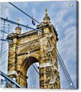 Roebling Suspension Bridge Acrylic Print