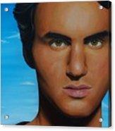 Roger Federer Acrylic Print