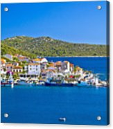 Rogoznica Harbor And Waterfront View Acrylic Print