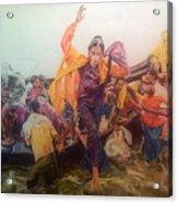 Rohingya Flee Myanmar Acrylic Print