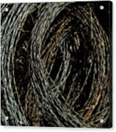 Rolled Barbed Wire-signed-#1936 Acrylic Print