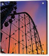 Roller Coaster At Sunset Acrylic Print