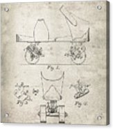 Roller Skate Patent - Patent Drawing For The 1882 F. A. Combes Roller Skate Acrylic Print