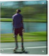 Rollerbladers In Forest Park Acrylic Print