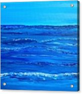 Rolling Blue, Triptych 2 Of 3 Acrylic Print