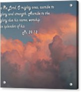 Rolling Clouds Sunset Ps.29 V 1-2 Acrylic Print