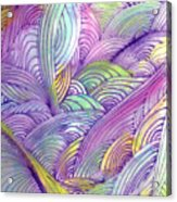 Rolling Patterns In Pastel Acrylic Print