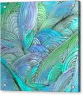 Rolling Patterns In Teal Acrylic Print