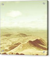 Rolling Rural Hills Of Zeehan Acrylic Print