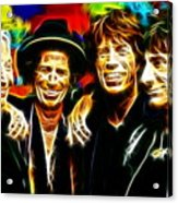 Rolling Stones Mystical Acrylic Print by Paul Van Scott