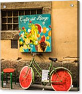 Roman Cafe' Acrylic Print by Denise Darby