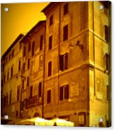 Roman Cafe With Golden Sepia 2 Acrylic Print