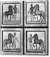 Roman Mosaic: Charioteers Acrylic Print