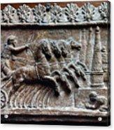 Roman Relief: Chariot Race Acrylic Print