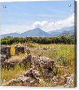 Roman Villa Ruins At Makry Gialos Acrylic Print