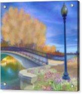 Romance At Elizabeth Park Bridge Acrylic Print