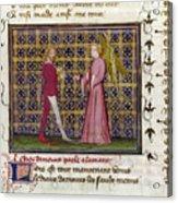 Romance Of The Rose Acrylic Print