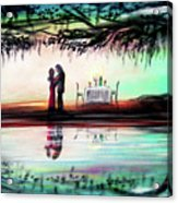 Romance Under The Oaks Acrylic Print