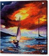 Romancing The Sail Acrylic Print