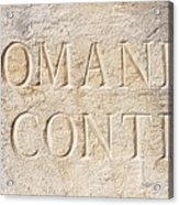Romanee Conti Acrylic Print