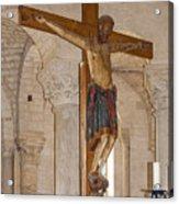 Romanesque Abbey Crucifix Acrylic Print