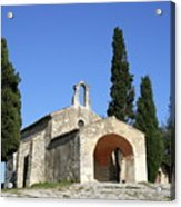Romanesque Chapel Saint Sixte  Acrylic Print