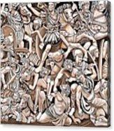 Romans And Barbarians Acrylic Print