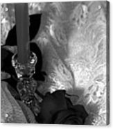 Romantic Black And White Acrylic Print