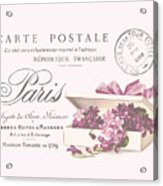 Romantic French Victorian Postcard Acrylic Print