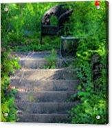 Romantic Garden Scene Acrylic Print by Teresa Mucha