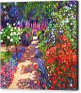 Romantic Garden Walk Acrylic Print by David Lloyd Glover